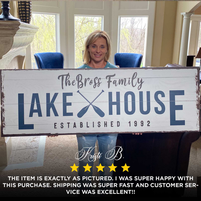 Copy of Family Lake House - Personalized Huge Canvas (Customily)