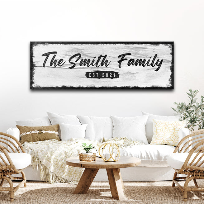 Family Wood Sign (READY TO HANG) - FREE SHIPPING
