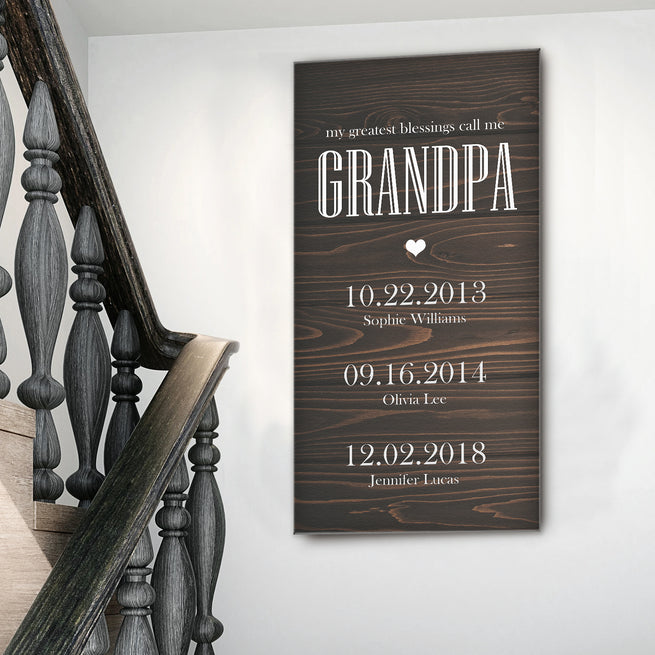 Grandfather's Name - Personalized Huge Canvas