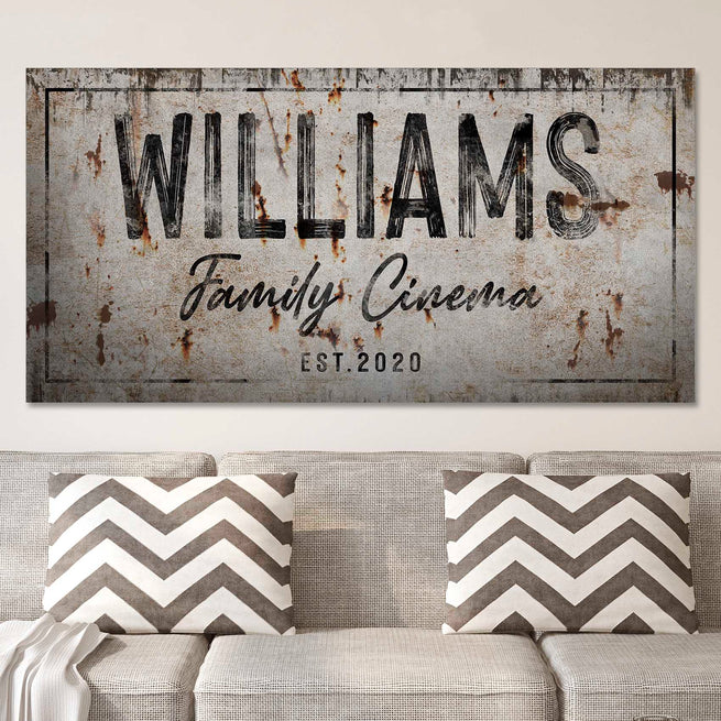 Family Cinema - Personalized Huge Canvas