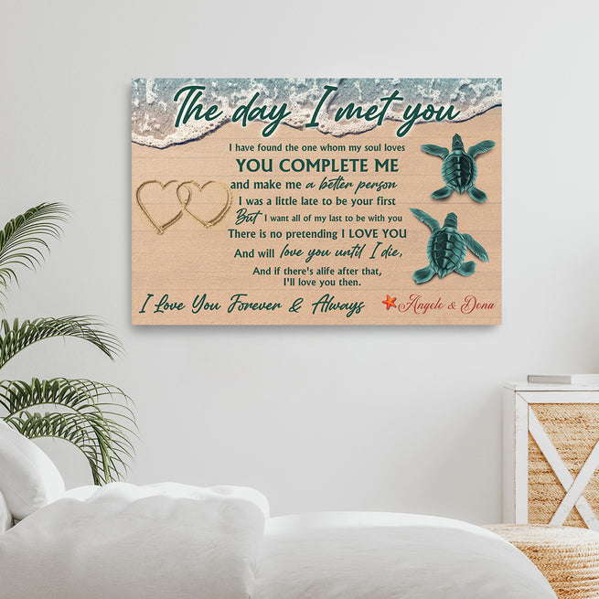 The Day I Met You - Personalized Premium Canvas