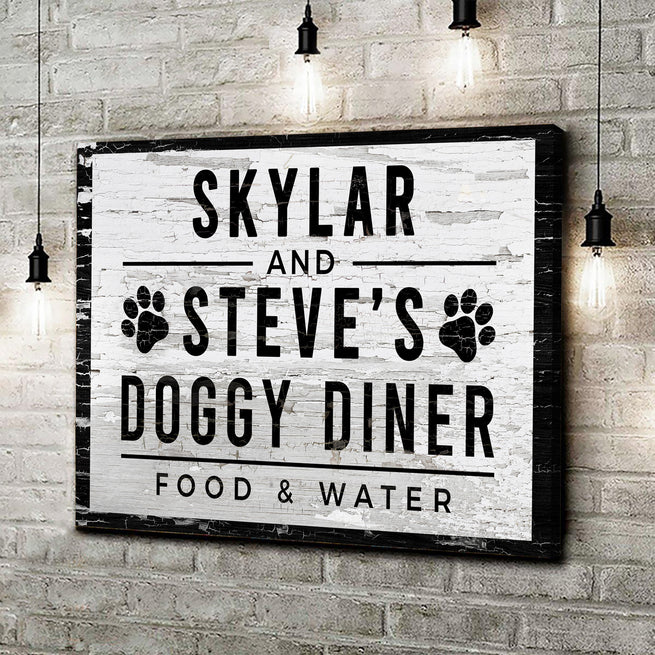 Doggy Diner - Personalized Premium Canvas