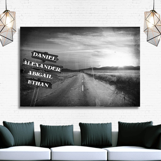 Family Dirt Road - Personalized Premium Canvas