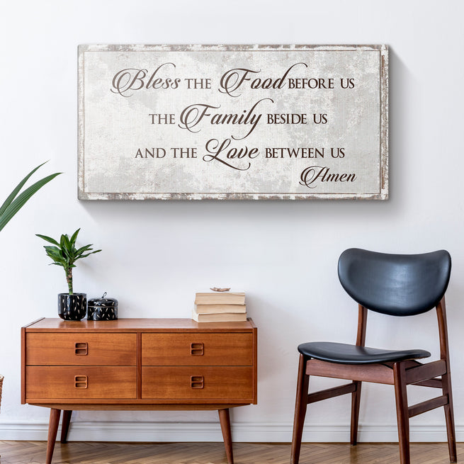 Bless Our Family (READY TO HANG) - Free Shipping