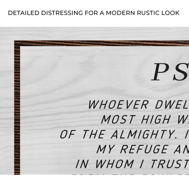Psalm 91 (READY TO HANG) - Free Shipping