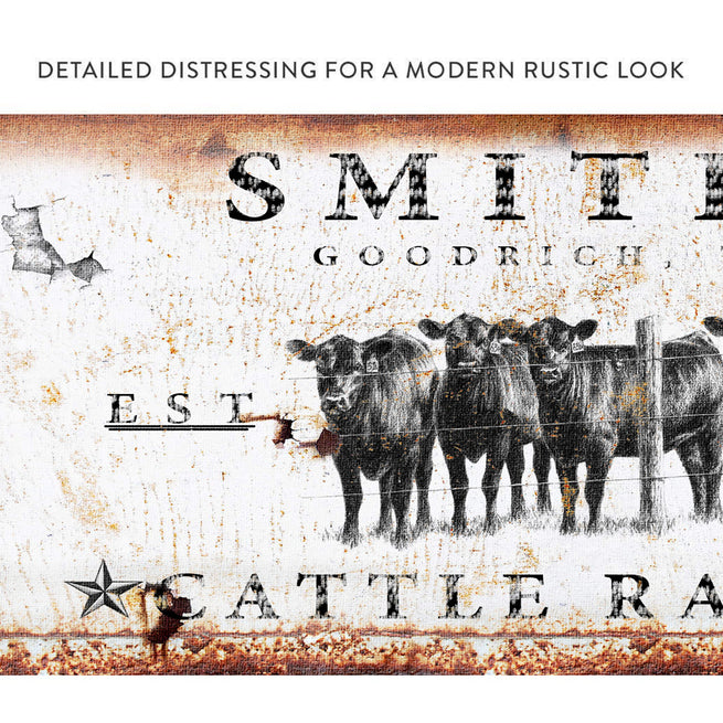Cattle Ranch (ready to hang) - Free shipping
