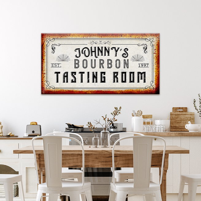 Tasting Room - Personalized Huge Canvas