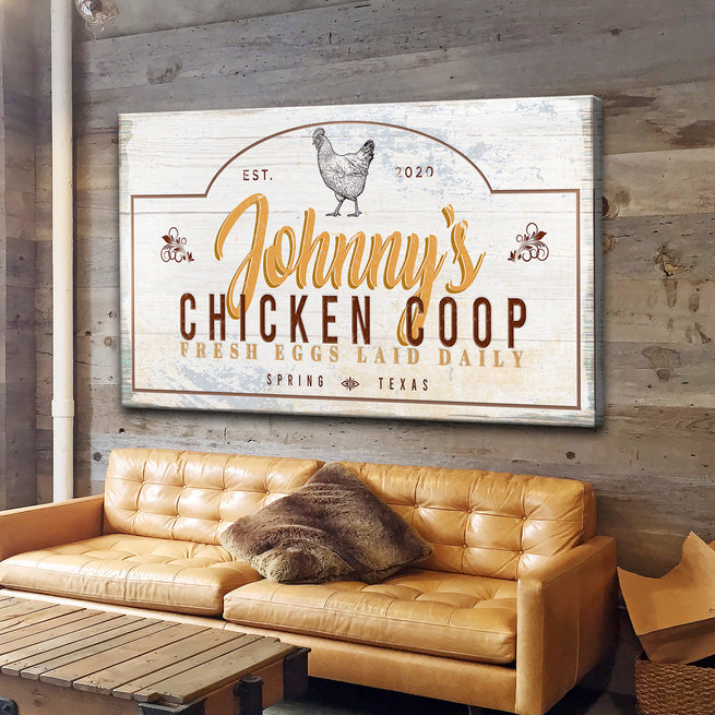 Chicken Coop - Personalized Huge Canvas