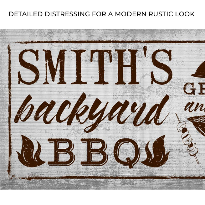 Backyard Barbecue Grill - Personalized Huge Canvas