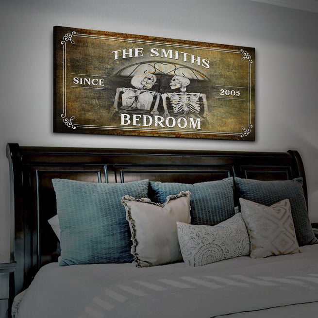 Gothic Bedroom Sign - Personalized Huge Canvas