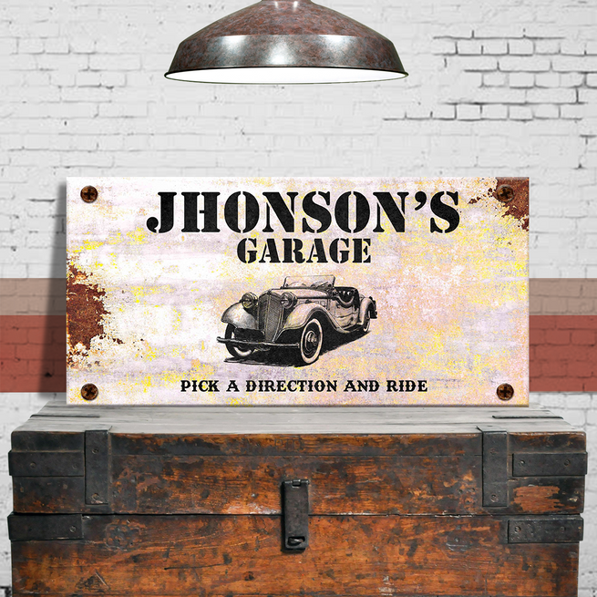 Garage Sign - Personalized Huge Canvas