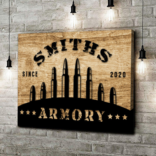 Armory Sign - Personalized Premium Canvas
