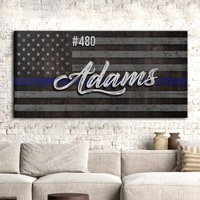 Police Sign - Personalized Huge Canvas