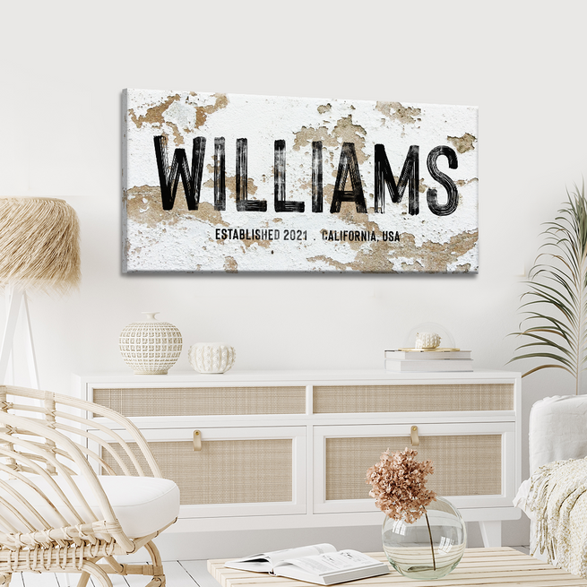 Name Sign - Personalized Huge Canvas