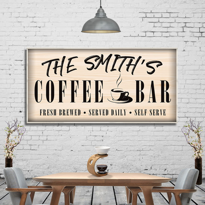 Coffee Bar - Personalized Huge Canvas