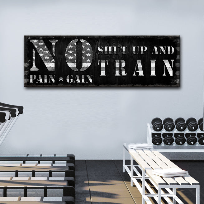 No Pain No Gain - Personalized Huge Canvas