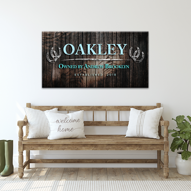 Horse Sign - Personalized Huge Canvas