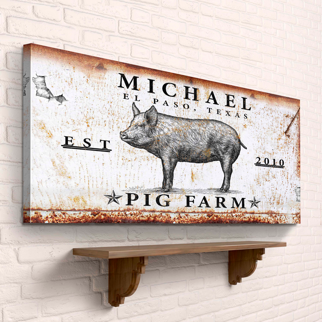 Pig Farm - Personalized Huge Canvas