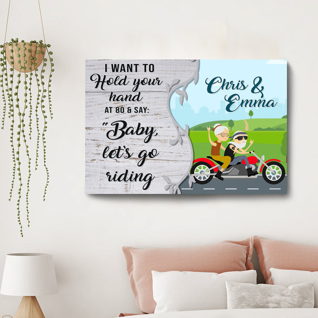 Baby Let's Go Riding - Personalized Premium Canvas