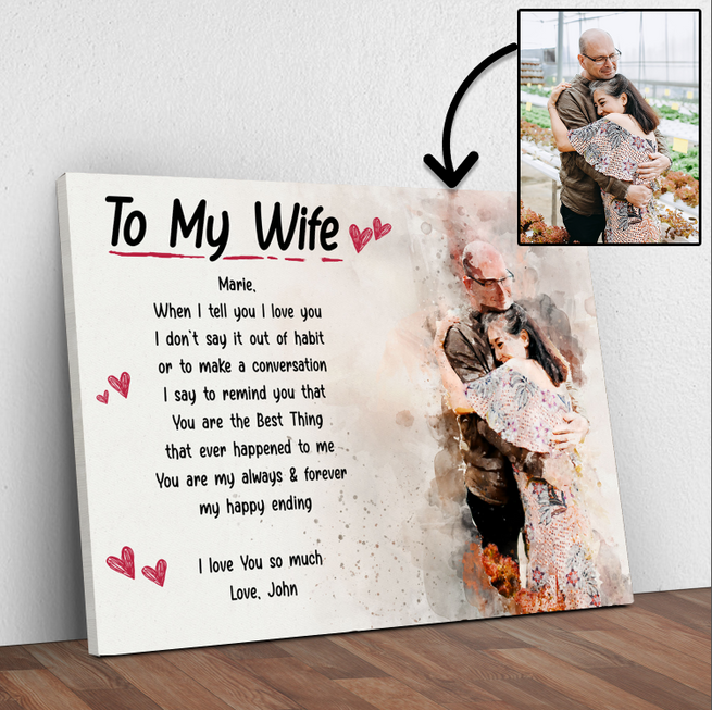 To My Wife Premium Canvas