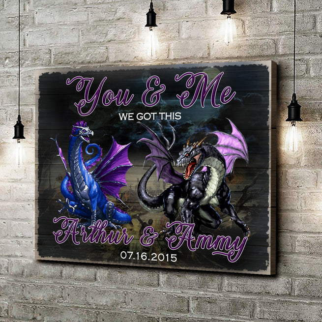 We Got This - Personalized Dragon Canvas