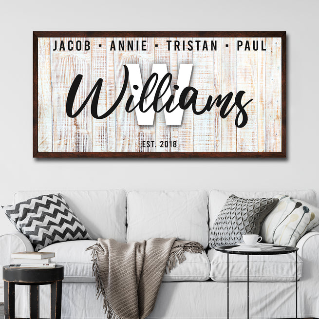 Family Wood Sign - Personalized Huge Canvas