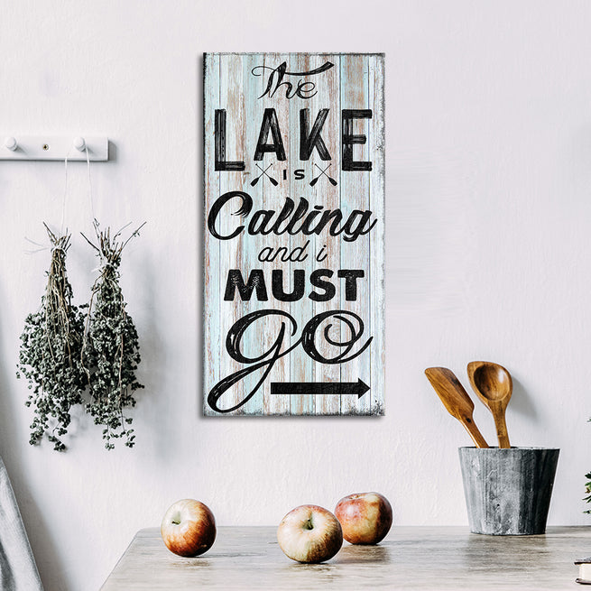 The Lake Is Calling - Personalized Family Huge Canvas
