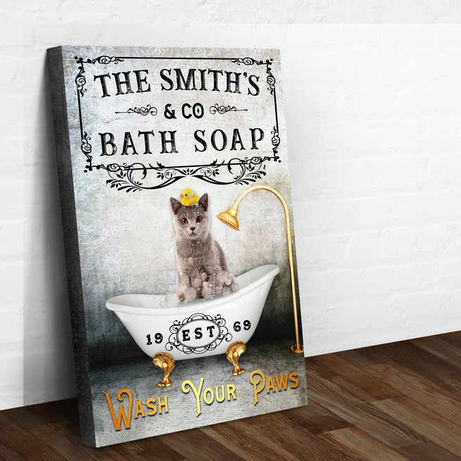 Wash Your Paws - Personalized Premium Canvas