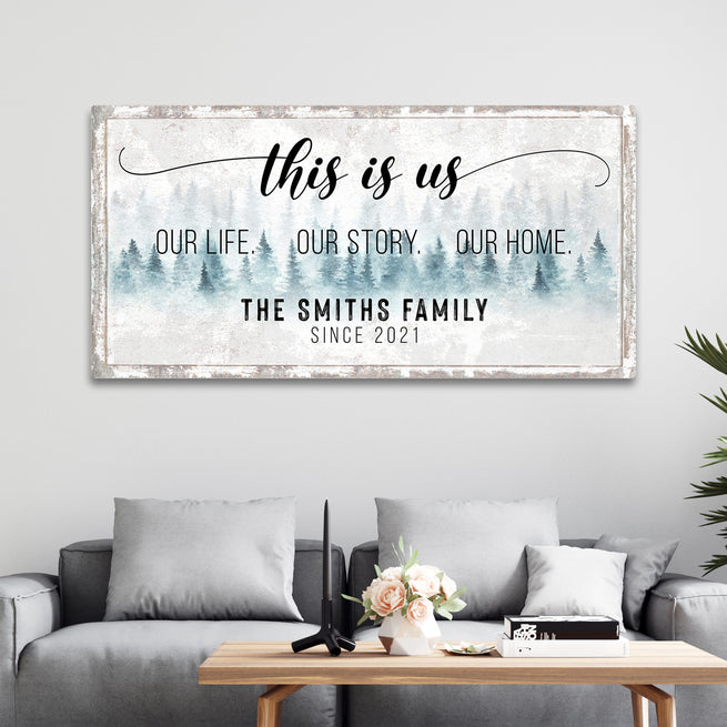 This Is Us - Personalized Family Huge Canvas