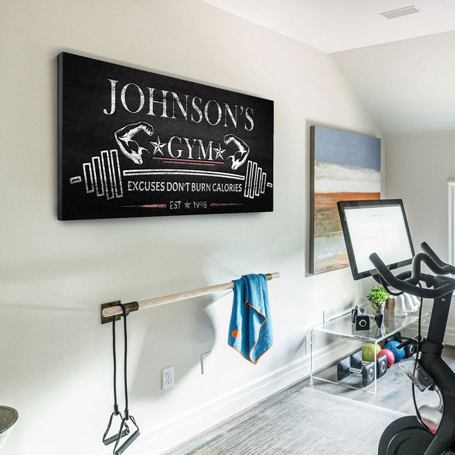 Gym - Personalized Huge Canvas