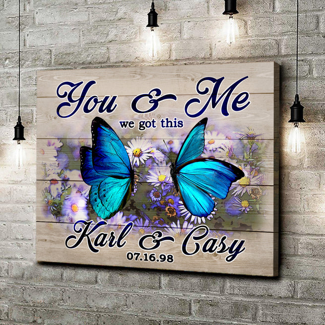 We Got This - Personalized Butterfly Canvas