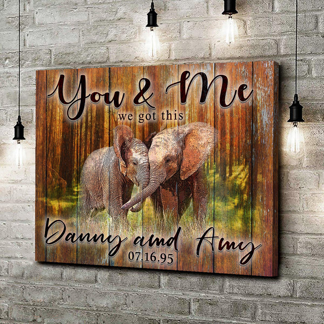 We Got This - Personalized Elephant Canvas