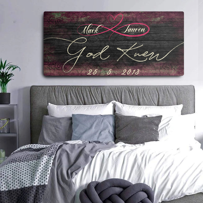 God Knew - Personalized Huge Canvas