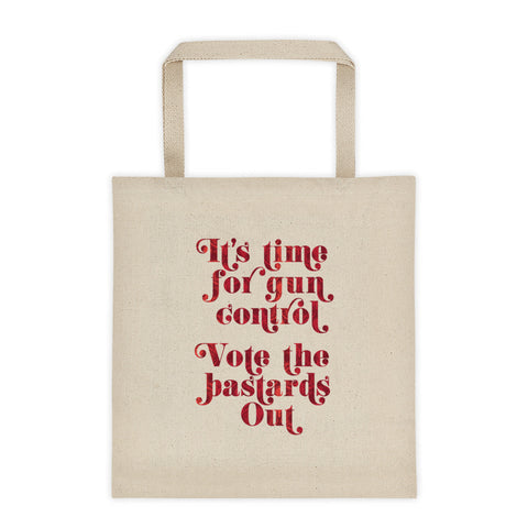 Its time for gun control tote bag