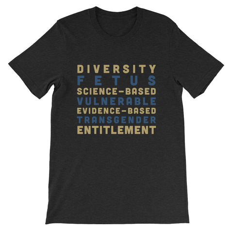 Banned Words Short-Sleeve Unisex T-Shirt - resist