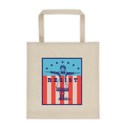 Resist girl tote bag