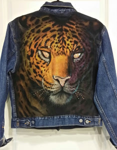 Custom Crystal Jaguar Print Jacket