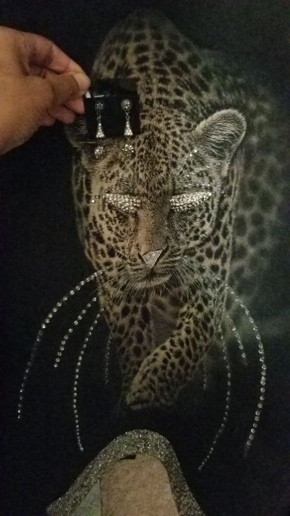 Custom Crystal Cheetah Print Jacket