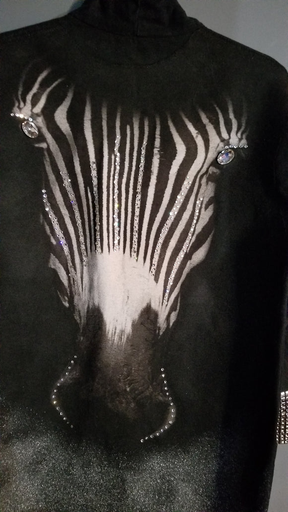 Custom Crystal Zebra Print Jacket