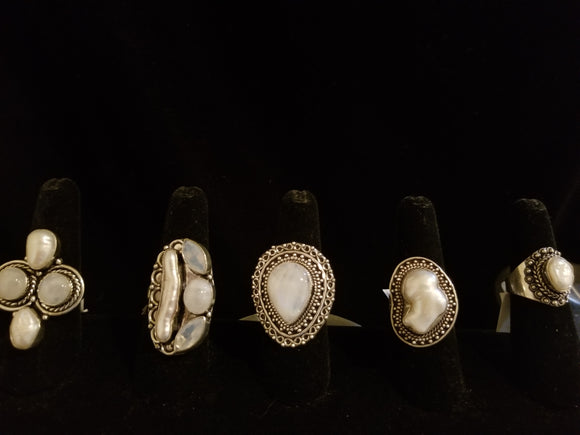 Pearl Mixed with Moonstone and Sterling Silver Collection