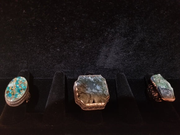 Agate Gemstone Rings