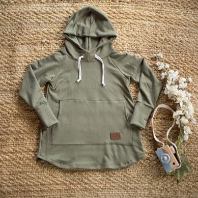Hoodie dress évolutive kaki