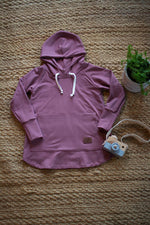 Hoodie dress évolutive rose brown