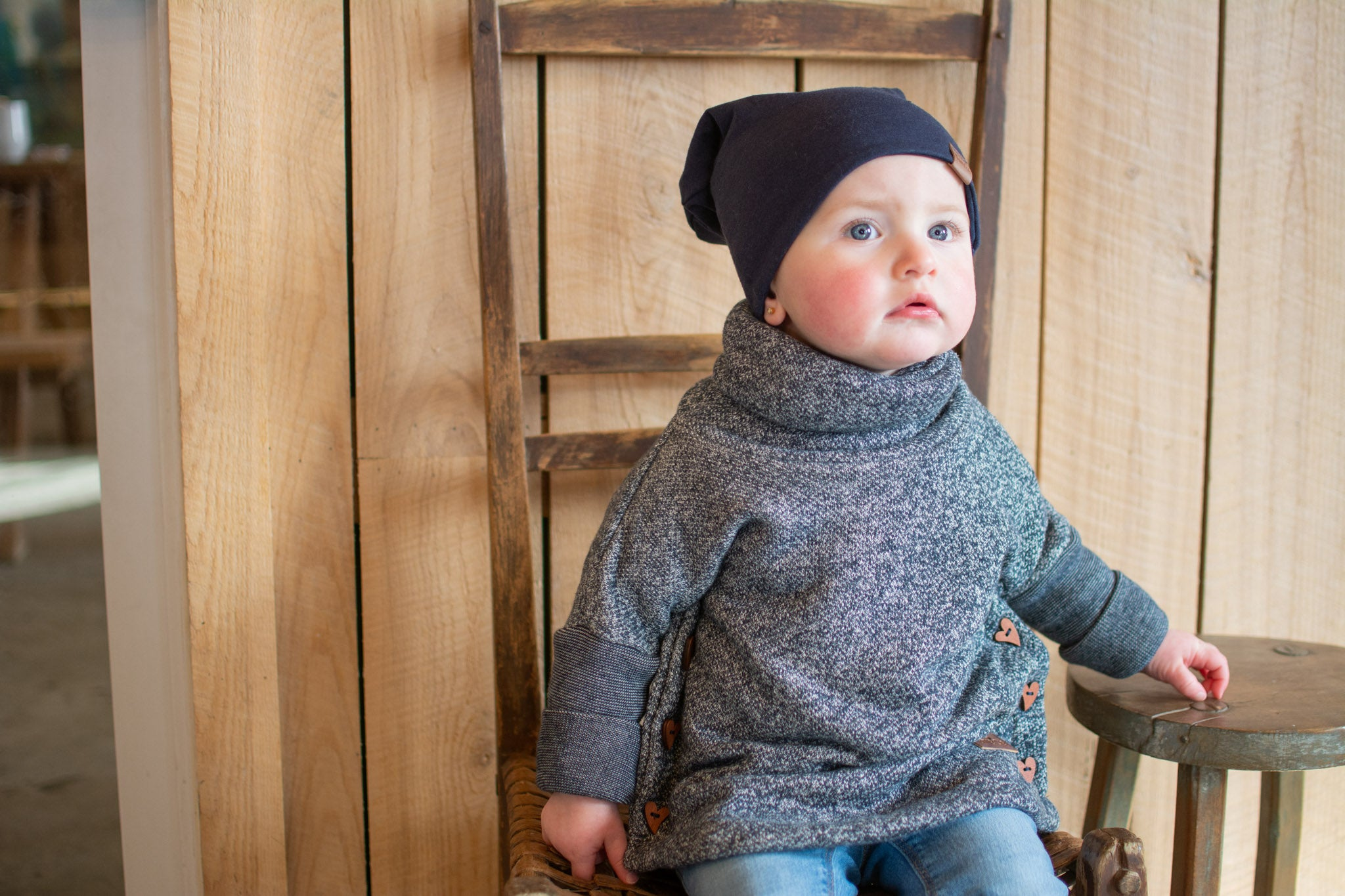 Tuque slouchy marine