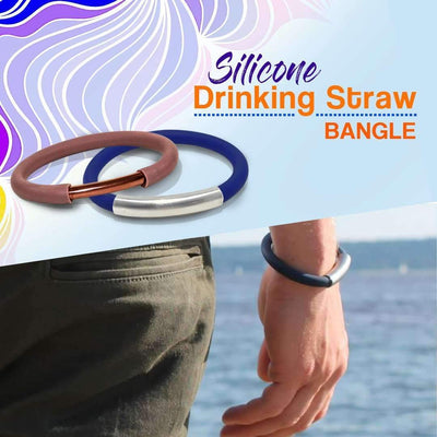 Silicone Drinking Straw Bangle