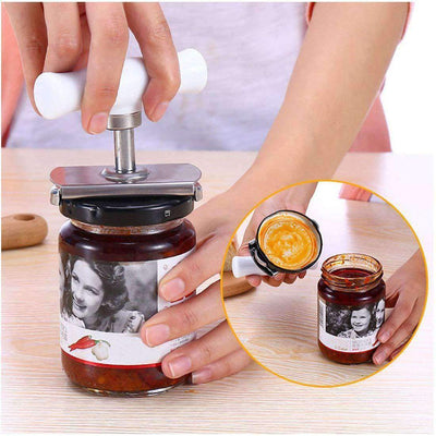 Jar Opener Multifunction Adjustable for 1-4 inches Bottle Can, Stainless Steel Lids Off Jar Opener