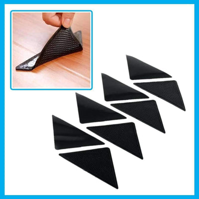 Non-Slip Silicone Rug Grippers - 4pcs