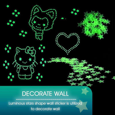 3D Luminous Star-Shaped Wall Stickers