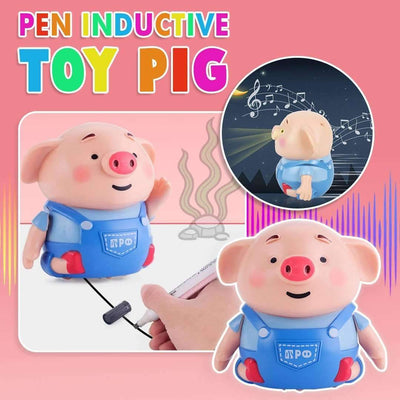 Pen Inductive Cute Pig Robot