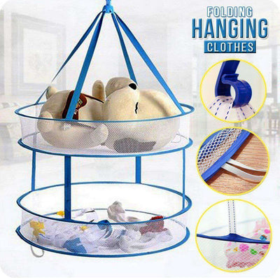 2-Layer Folding Mesh Drying Rack
